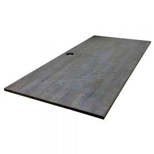 Mặt bàn gỗ cao su màu nâu lau đã PU hoàn thiện MB003