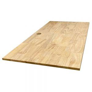 Mặt bàn gỗ cao su màu gỗ tự nhiên đã PU hoàn thiện MB001