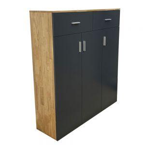 Tủ giày hiện đại gỗ cao su tự nhiên KG68023