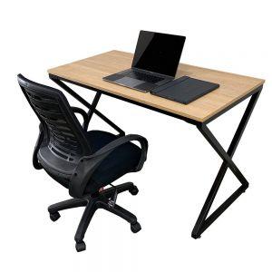 Combo bàn làm việc gỗ Plywood và ghế chân xoay CB68075