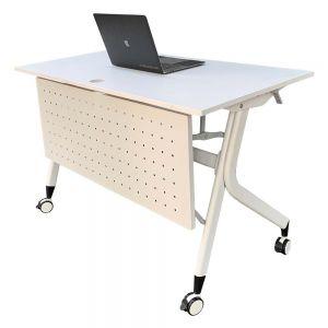 Bàn văn phòng gấp gọn gỗ cao su hệ Masa HBMS001