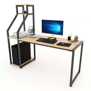 Bàn vi tính kết hợp kệ CPU gỗ cao su khung sắt 158x60x145(cm) COD68042