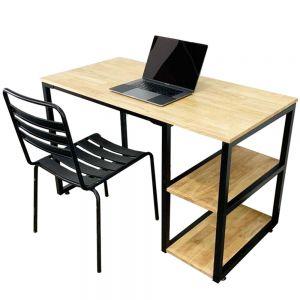Combo bàn làm việc kết hợp kệ và ghế sắt sơn tĩnh điện CB68080