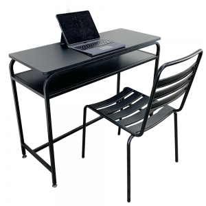 Combo bàn làm việc có hộc và ghế sắt sơn tĩnh điện CB68081