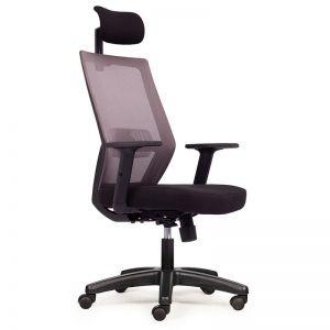 Ghế văn phòng lưng lưới có tựa đầu HOM1083-02