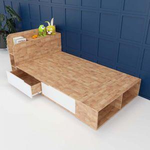 Giường ngủ có hộc kéo gỗ cao su tự nhiên GN68026