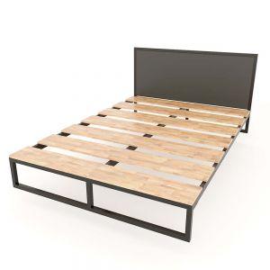 Giường ngủ Mony hiện đại gỗ cao su khung sắt lắp ráp GN68029