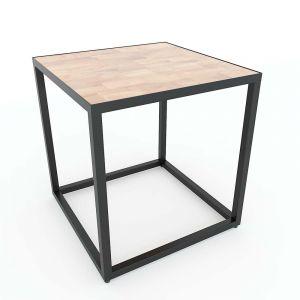 Kệ để đầu giường vuông gỗ cao su khung sắt TDG68027