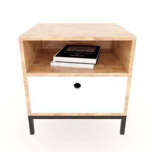 Tủ đầu giường 1 ngăn kéo gỗ cao su 50x45x57cm TDG68032