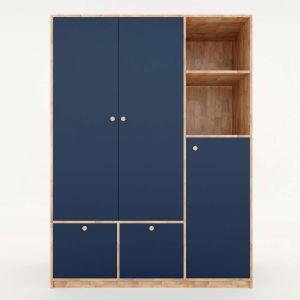 Tủ quần áo hiện đại gỗ cao su TQA68012