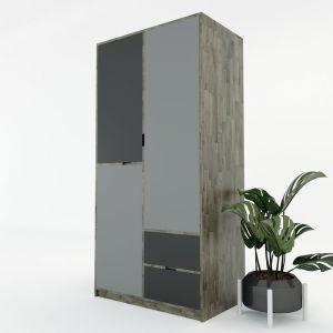 Tủ quần áo hiện đại gỗ cao su 2 hộc kéo TQA68014