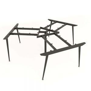 Chân bàn cụm 3 hệ Cone 236x205cm lắp ráp HCCO023