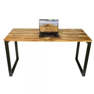 Bàn làm việc gỗ tràm 140x60cm hệ Wooden chân sắt lắp ráp HBWD003