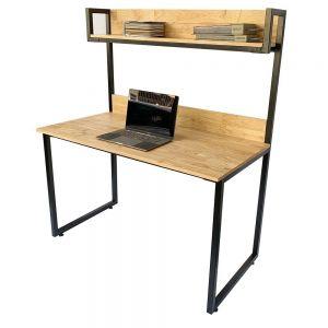 Bàn học kết hợp kệ khung sắt gỗ cao su FD68047