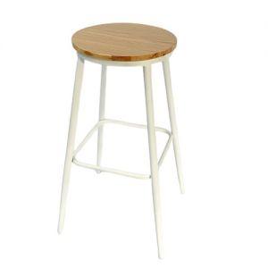 Ghế Bar mặt ghế gỗ chân sắt sơn tĩnh điện  GBSK004