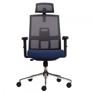 Ghế văn phòng chân xoay có tựa đầu HOM1084-01