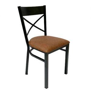 Ghế cafe, ghế ăn nệm màu nâu khung sắt  GSK003