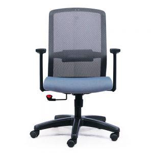 Ghế xoay văn phòng chân nhựa, 1 cần điều khiển HOM1009-03