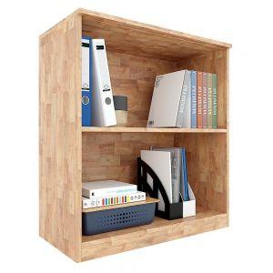 Kệ hồ sơ 2 tầng gỗ cao su 80x40x87cm THS68022