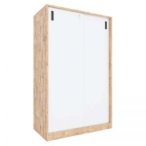 Tủ hồ sơ cửa lùa có khóa 3 tầng gỗ cao su THS68030