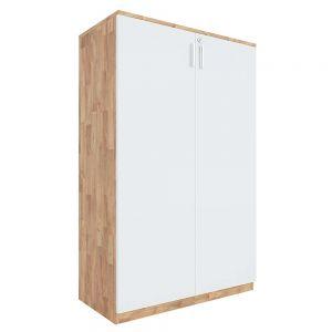 Tủ hồ sơ cửa mở có khóa 3 tầng gỗ cao su THS68032