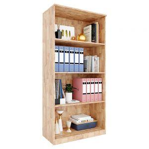 Kệ hồ sơ 4 tầng hệ mở gỗ cao su THS68037