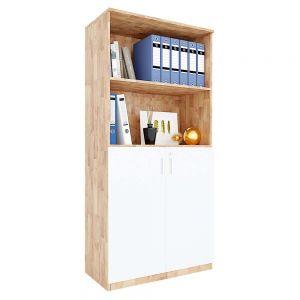 Tủ hồ sơ cửa mở có khóa 4 tầng gỗ cao su THS68038