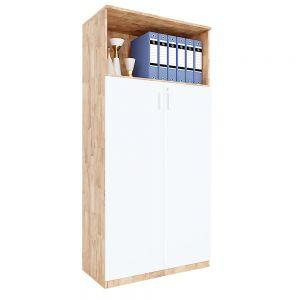 Tủ hồ sơ cửa mở có khóa 4 tầng gỗ cao su THS68040