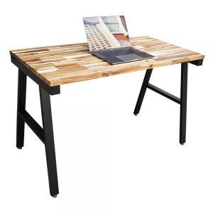 Bàn làm việc 120x60cm gỗ tràm hệ Wooden chân sắt lắp ráp HBWD017