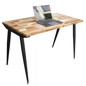 Bàn làm việc 120x60cm gỗ tràm hệ Wooden chân sắt Cone HBWD018