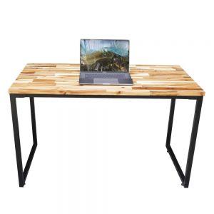 Bàn làm việc 120x60cm gỗ tràm hệ Wooden chân sắt lắp ráp HBWD023