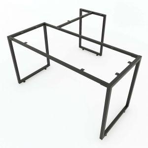 Chân bàn chữ L lắp ráp 140x140cm hệ Minimal HCMN015