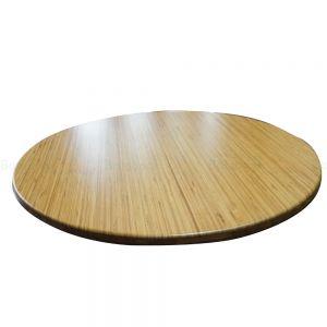 Mặt bàn gỗ tre ghép tròn nguyên tấm d=60cm đã PU hoàn thiện MB009