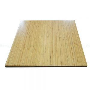 Mặt bàn gỗ tre ghép vuông nguyên tấm 60x60cm đã PU hoàn thiện MB010
