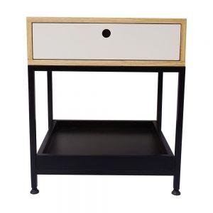 Tủ đầu giường gỗ cao su khung sắt 50x45x57cm TDG68034