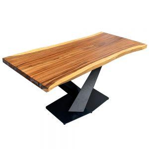 Bàn gỗ Me Tây Nguyên Tấm 1m6x75cm chân sắt sơn tĩnh điện BMT058