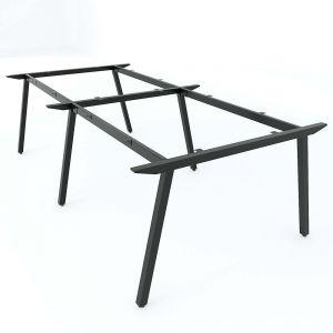 Chân bàn sắt cụm 4 240x120cm hệ PLY lắp ráp HCPL013