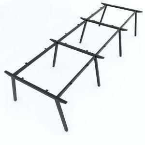 Chân sắt bàn cụm 6 360x120cm hệ PLY lắp ráp HCPL014