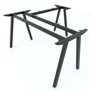 Chân bàn sắt chữ L 140x140cm hệ PLY lắp ráp HCPL015