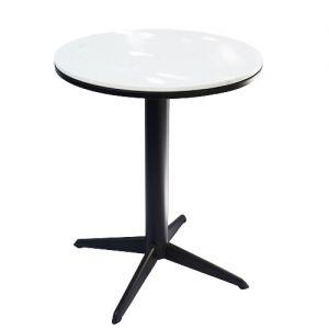 Bàn cafe tròn mặt đá chân sắt sơn tĩnh điện CFD68071