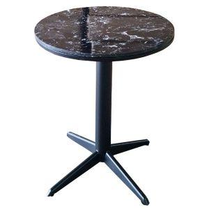Bàn cafe tròn 60cm mặt đá đen chân sắt sơn tĩnh điện CFD68073