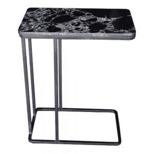 Bàn sofa trang trí mặt đá đen khung sắt sơn tĩnh điện TT68113
