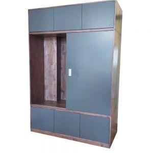 Tủ Quần Áo cửa lùa kết hợp ngăn kéo gỗ cao su TQA68015