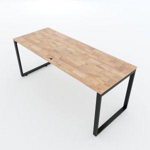 Bàn làm việc 60x180cm gỗ cao su hệ Rectang lắp ráp - HBRT035