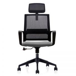Ghế văn phòng chân xoay có tựa đầu HANZO 01 GCT004