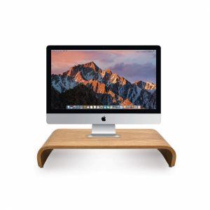 Kệ đỡ màn hình mày tính MonitorStand cong màu gỗ sồi MS68009