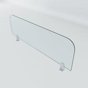 Vách ngăn kính cường lực 110x30cm dày 5mm VNK001