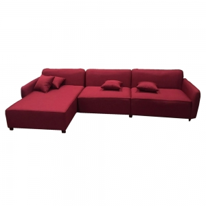 Ghế sofa góc chữ L màu đỏ - 300x80x90 (cm) SFL68019