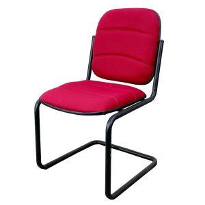 Ghế nệm đỏ chân quỳ cho phòng họp HOM1066_04B