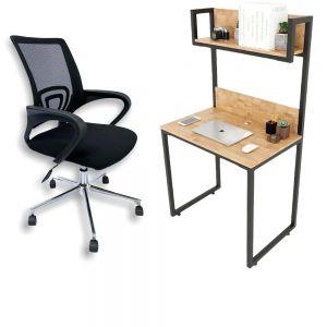 Combo bàn làm việc mini và ghế xoay văn phòng CB68089